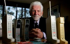 Martin Cooper with phones
