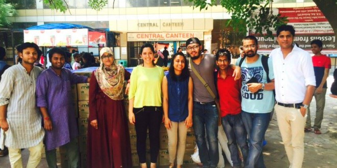 Jamia students join hands for quake victims