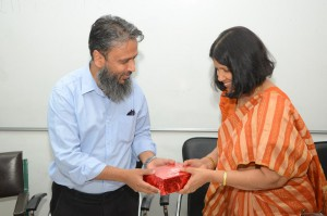 AMU TPO felicitated for his work