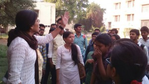 First women President of Allahabad University Students' Union (AUSU)attacked by ABVP students