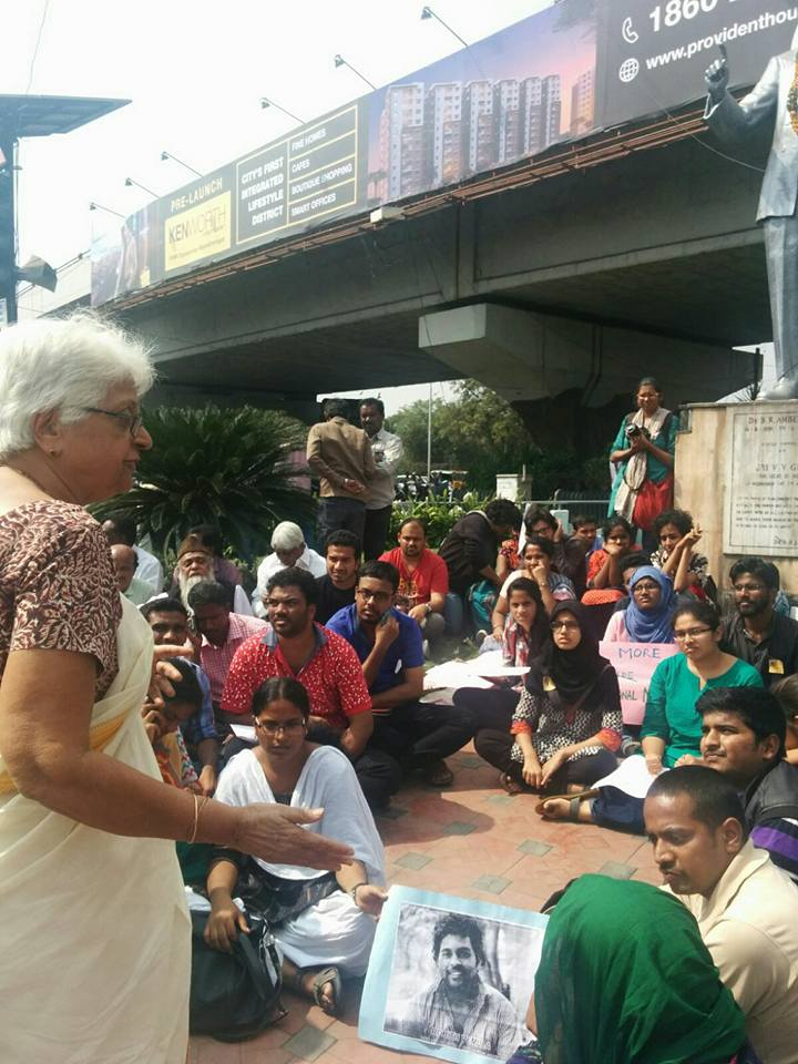 City Wide protest at Hyderabad.