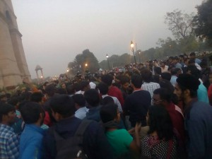 Rohith Vemula Case: Candle light march at India Gate stopped by police