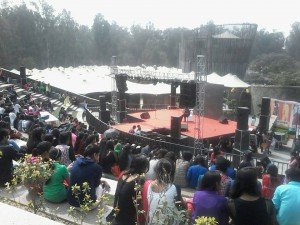 """A two day cultural fest """"Abhivyakti"""" was organised in Delhi Haat, Janakpuri by Bharati College"""