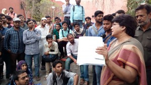 Jamia students called off their hunger strike as administration promised to roll back the fee hike