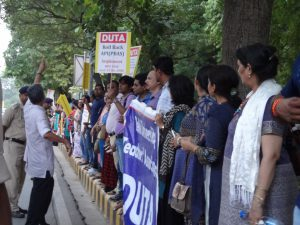 Students' leaders stand on ongoing struggle of DU teachers