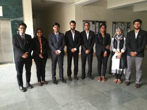 Jamia law students felicitated by the Hon'ble members of the DSLSA