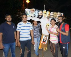 Effigies of PM Modi and Ramdev burnt in JNU