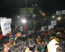 AMU students Marched for Aleppo; AMUSU also writes to President of India