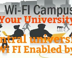 These 38 Central Universities will be WiFi enabled by July