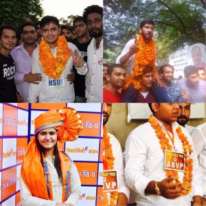 NSUI bags top two DUSU posts, ABVP wins two
