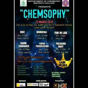 Chemsophy: The annual chemistry fest of Maitreyi College, University of Delhi