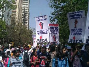 Students, teachers march to protest against graded autonomy scheme