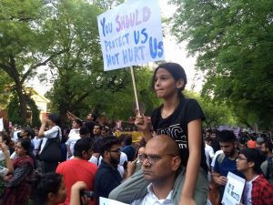 Delhi mass protest against rape after 6 years !