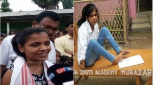 Specially-abled girl from Assam wrote her exams with her legs and scored first division
