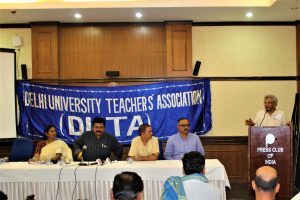 DU Teachers' Association and People' Representatives demand President of India to end crisis on Roster issue
