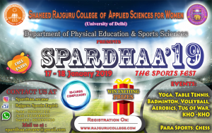 SPARDHAA: Annual Sports festival of Shaheed Rajguru College of Applied Sciences for Women (University of Delhi )