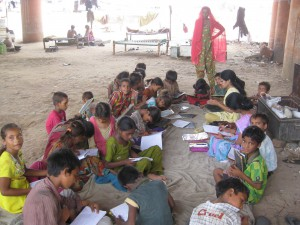 These children are out of school and devoid of art of living