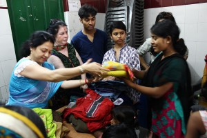 Students of Vivekananda Institute of Professional Studies bring a smile on faces of unprivileged people