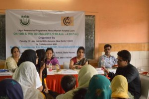 Jamia in collaboration with NCW concluded their first module of Two days workshop on Legal Awareness about Women Related Laws