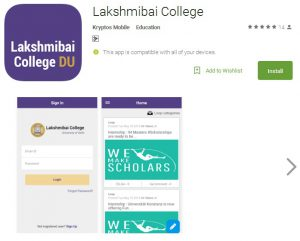 Lakshmibai College becomes first DU college to launch Mobile Application for its student