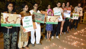 Government Colony to be developed in South Delhi by cutting of 16500 trees; Delhi citizens protest